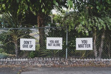 don't give up signs for suicide prevention