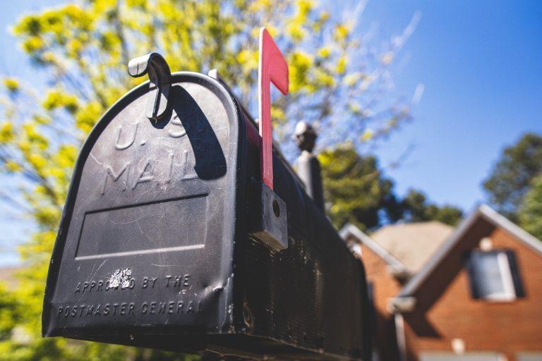 usps black mailbox